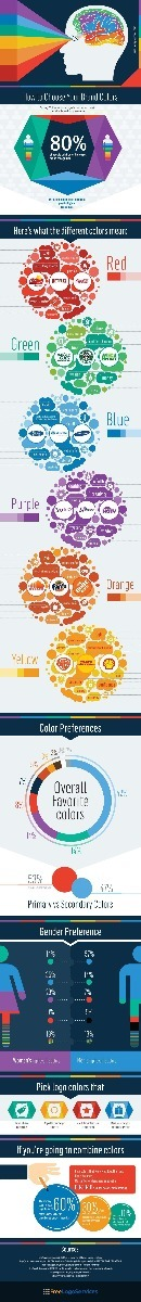 How to Choose your Brand Colours Infographic