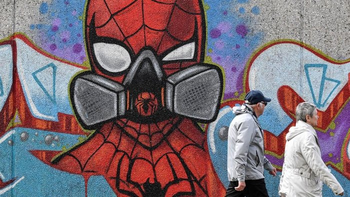 Spiderman graffiti by Uzey in Hamm, Germany