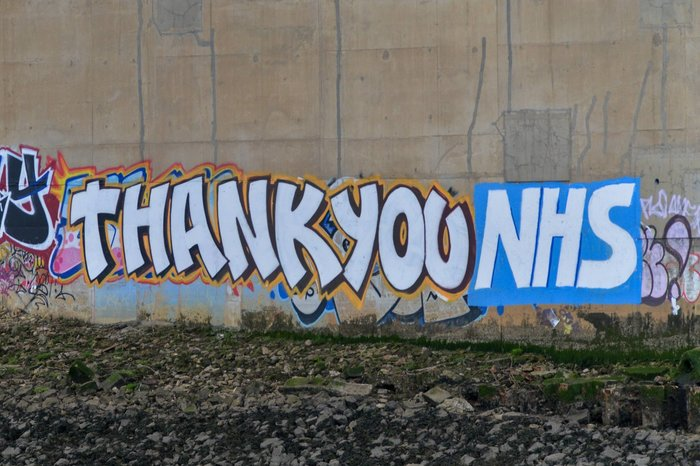 NHS thankyou in Stockton, UK