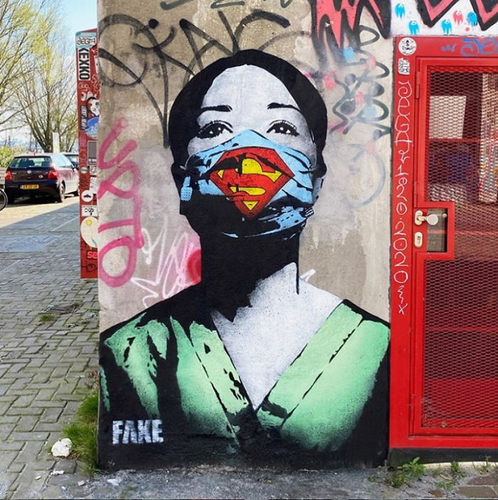 Super nurse by Fake in Amsterdam