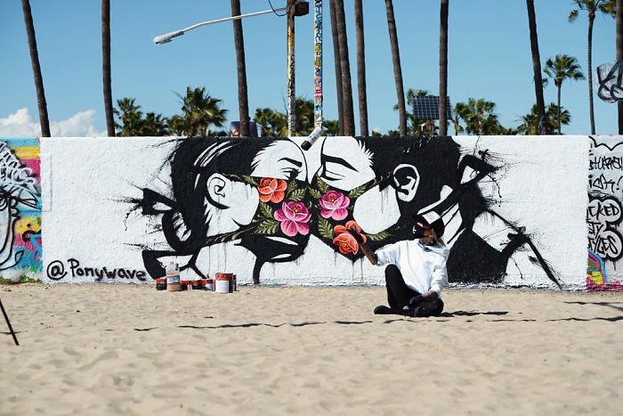 Beautiful piece by Ponywave in Los Angeles
