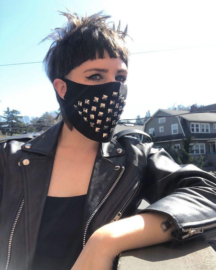 Biker chick Coronavirus mask